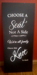 Wedding sign - Choose a seat, not a side