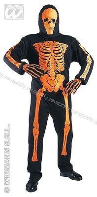 COSTUME SCHELETRO NEON 3D Halloween Costume Morte Horror Tridimensionale 44013