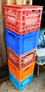 VINTAGE MILK CRATES FOR STORING LPs - GREAT FOR HOLDING RECORDS