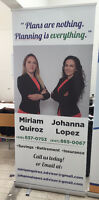 Best Prices on A-Frame and Roll-up Banners $120