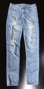 2 Pairs American Eagle Super Stretch Jegging Jeans, Size 2 Long