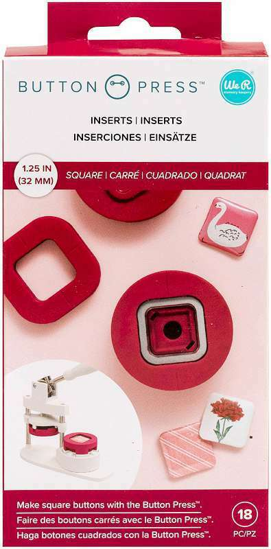 We R Memory Keepers Button Press Insert Square (31mm) 633356611035