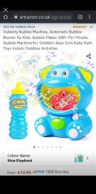 Hippo bubble machine brand new in box