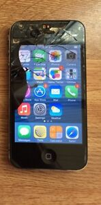 iPhone 4, 16gig, Rogers, screen needs replaced!