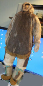 "23 1/2"" Inuk Man  Inuit Heritage Doll  NWT  Caribou Fur Unique"
