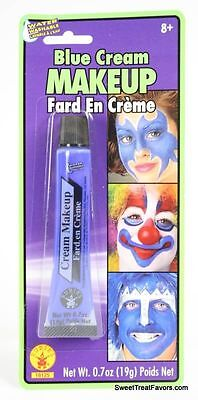 BLUE Cream Makeup Face Halloween Tube Pretend Costume Dress Stage FREE SHIPPING - Halloween Blue Cream Makeup
