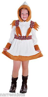 r Mädchen Plüsch Karneval Fasching Arktis Forscher Kleid Eis (Eskimo Kostüm Kinder)