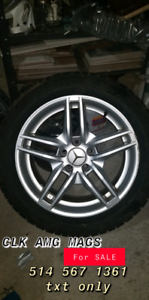 225/50/R17 Mags Mercedes CLK with new winter tires 225$ each