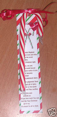 LEGEND OF THE CANDY CANE Keep Christ in Christmas Bookmarks 24/pkg