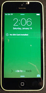 Green IPhone 5c 16gb Rogers/ Chatr