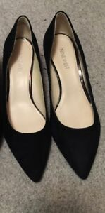 Black suede shoes - brand new - 9 West brand, size 7.5 - $20.00