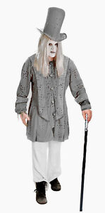 Adult-Mens-Halloween-Edwardian-Victorian-Ghost-Fancy-Dress-Costume-Outfit-New