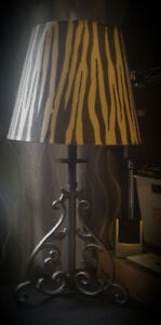 Table  Lamp  - Rod Iron  Scroll Design