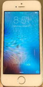 16GB Silver IPhone 5S- Unlocked- Works on Wind