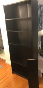 Large Black Bookshelf