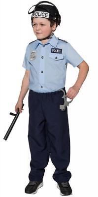 Polizist Polizei Police Hemd Cop FBI Set SWAT Kostüm Uniform Anzug Helm Kinder ()