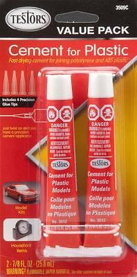 Testors Plastic Model Cement Value Pack (2) 3509C TES3509C