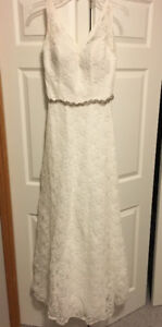 Morilee Lace Wedding Dress (approx size 6)