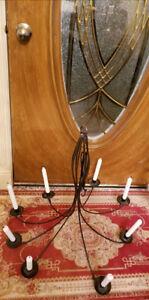 Vintage Wrought Iron Candelabra Chandelier,Weddings, Patio