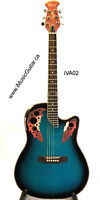 Round Back Acoustic Guitar Brand New Blue iVA02 Chard