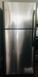 Frigidaire Stainless Steel Fridge, Stove, Counter top Microwave