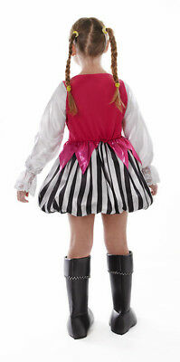 Mädchen Rosa Piraten See Queen Kleid Stiefel Abdeckung Kostüm Neu Alter - Rosa Piraten Kostüm