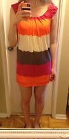 Multi-coloured striped BCBG dress