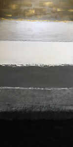 """One-of-a-kind Contemporary Painting Gallery Canvas LARGE 48""""x24"""""""