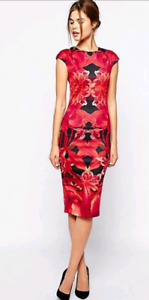 Ted Baker Naias Jungle Orchid Print Dress