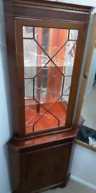 Mahogany Corner Cabinet