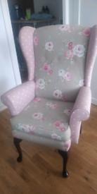 Pink Floral Armchair / Arm chair