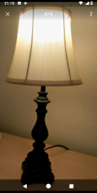 Retro wooden table lamp