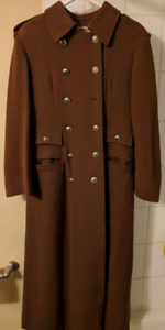 Hilary Radley military style full lenght wool coat sz 8
