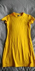Yellow bodycon dress from H&M size medium