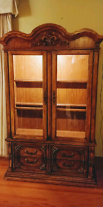 Solid wood cabinet/hutches