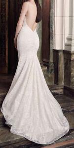 Robe de mariée Mikaella en dentelle, dos ouvert (wedding dress)
