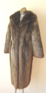 Vintage Full Length Beaver Coat