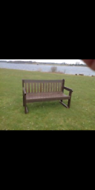 Thick solid grade 1 teak 3 seater bench
