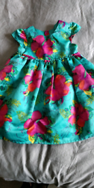Monsoon silk floral dress 18-24 months