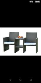 Rattan companion chairs