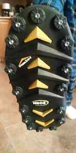 Neo over boots. Studded