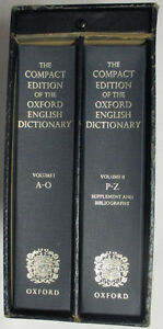 Oxford English Dictionary, Compact Edition 1971, 2 Volumes Set Stratford Kitchener Area image 2