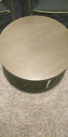 Designer Round wooden coffee table