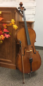 Cello Karl Weber - Dresden Germany with case, bow, tuner, stand