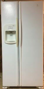 23.6 cu ft Maytag White Side-by-Side with Water & Ice Dispenser