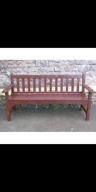 Teak painted 3 seater solid wood