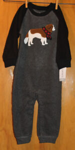 New Carter's Toddler Boy Size 24M  Footed PJ's and 1 pc Outfit