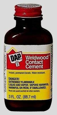 Contact Cement - DAP Weldwood RUBBER CONTACT CEMENT High Strength Instant Bond Crafts 3 oz 00107
