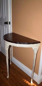 Solid Wood Entrance Way Half Moon Table