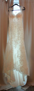 Brand New Lace Wedding Dress - Deep V Neck - Lace - Bustle